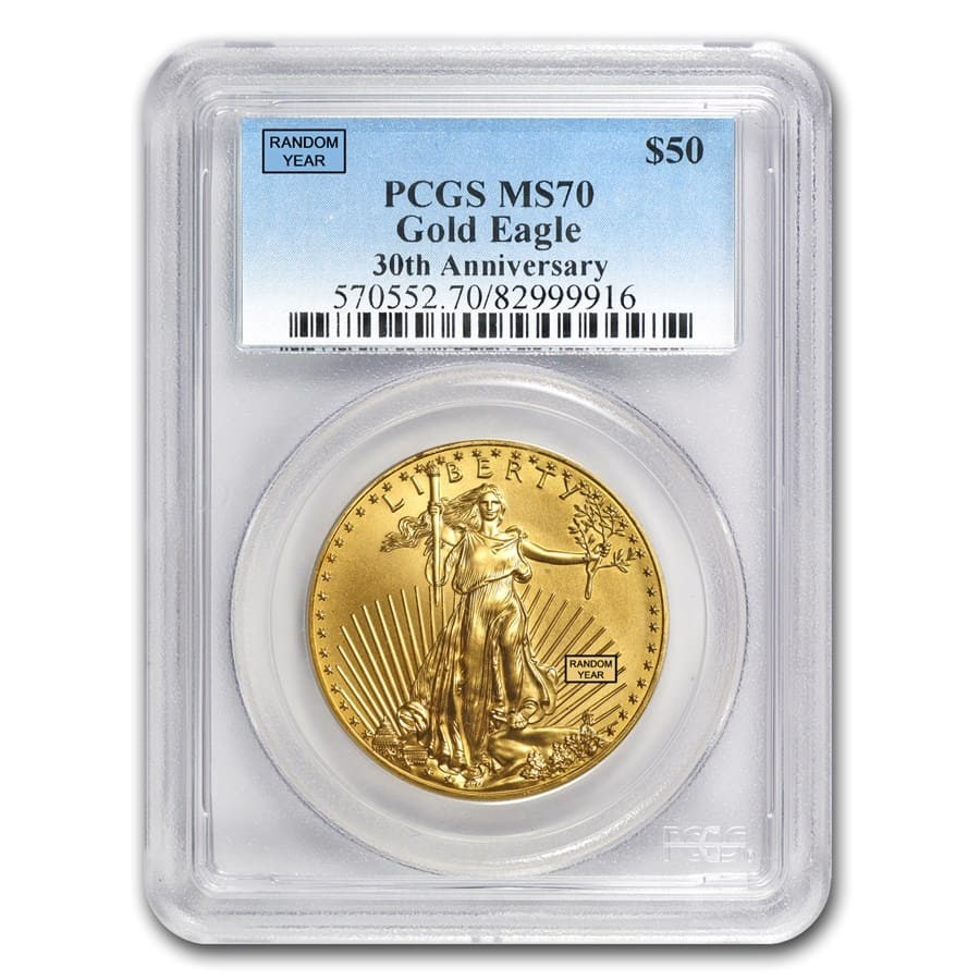 1 oz Gold American Eagle MS-70 PCGS (Random Year)