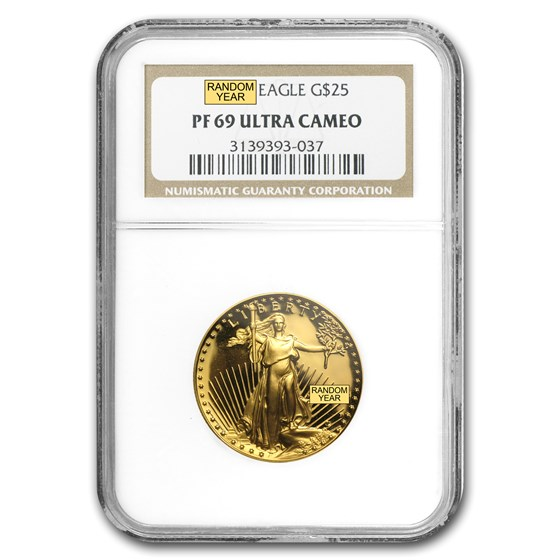1/2 oz Proof Gold American Eagle PF-69 NGC (Random Year)