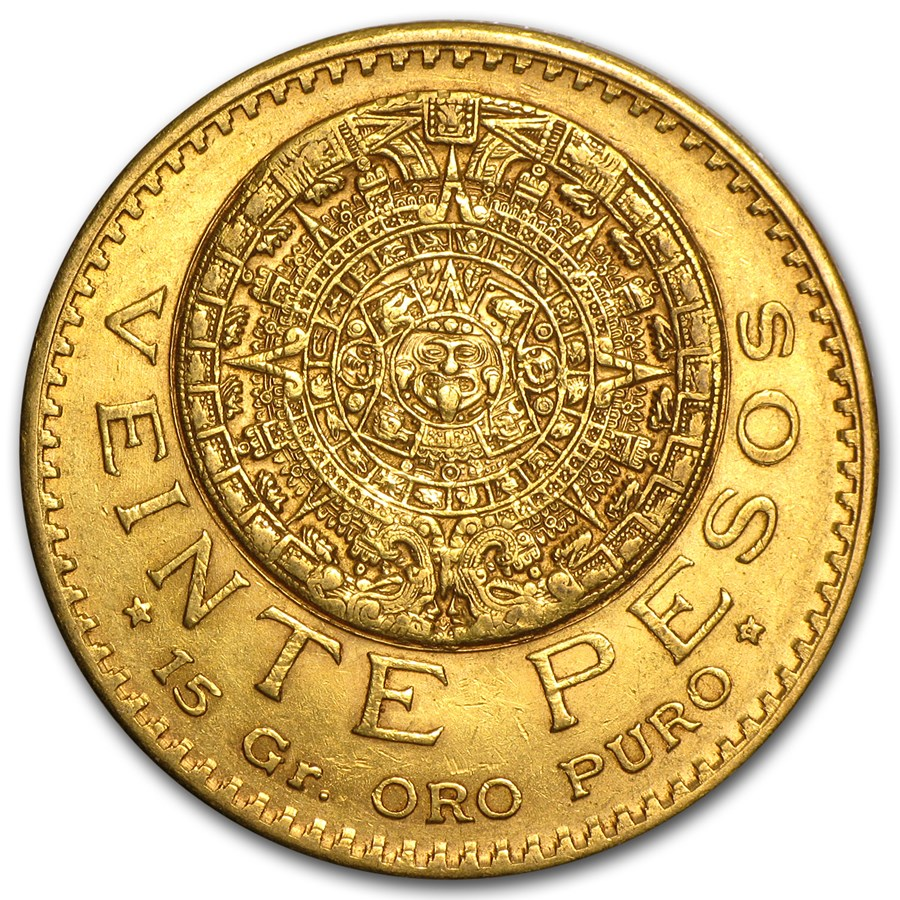 1918 Mexico Gold 20 Pesos XF