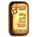 100 gram Gold Bar - Valcambi (Poured w/Assay)