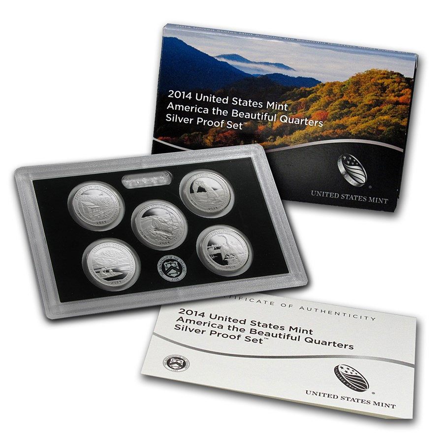 2014 America the Beautiful Quarters Silver Proof Set