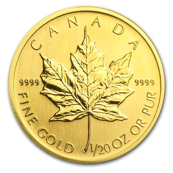 2005 Canada 1/20 oz Gold Maple Leaf BU
