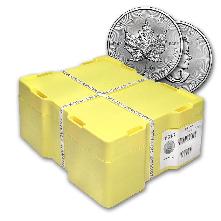 2015 Canada 500-Coin Silver Maple Leaf Monster Box Sealed