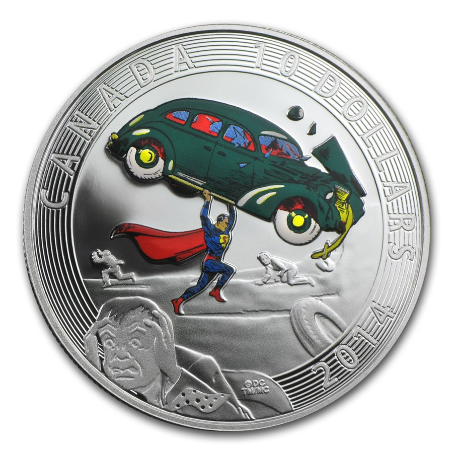 2014 Canada 1/2 oz Silver Superman™ Iconic Comic Book Covers (#1)