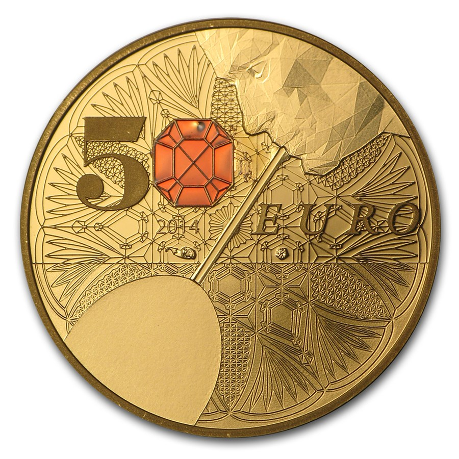 2014 1/4 oz Proof Gold €50 Excellence Series (Baccarat)