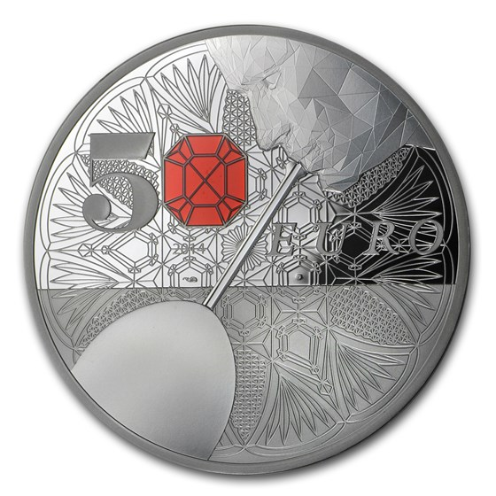 2014 France 5 oz Silver €50 Excellence Series (Baccarat)
