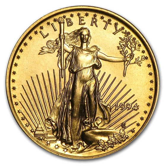 1994 1/10 oz Gold American Eagle BU