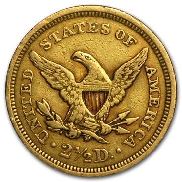 Liberty Head $2.50 Gold Coin (1840-1907)