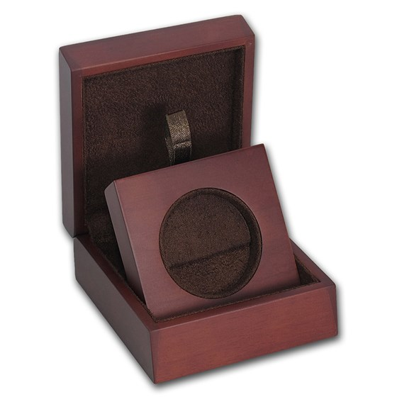 APMEX Wood Gift Box - 1 oz Perth Mint Silver Coin Series 2