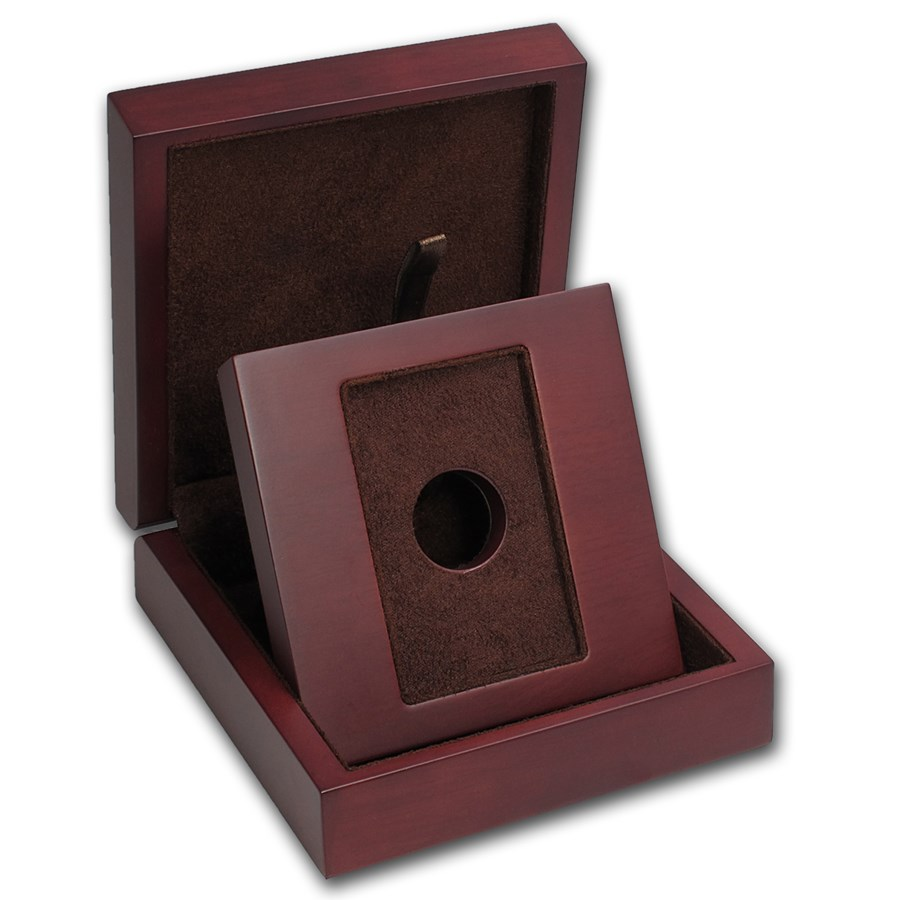 APMEX Wood Gift Box - Misc. 1 oz and Under Gold Bar (w/Assay)