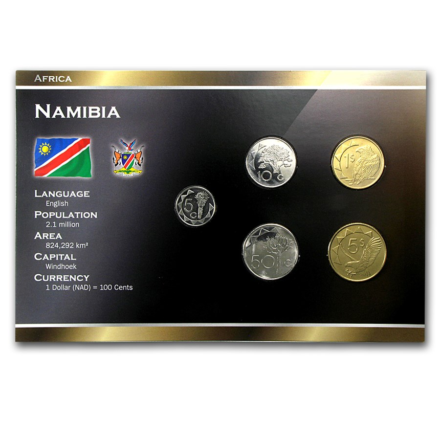 Namibia 5 Cents-5 Dollars Coin Set Unc