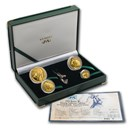 2001 South Africa 4-Coin Gold Natura Oryx Prestige Proof Set