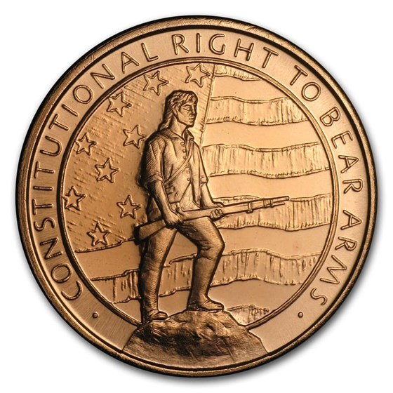 1 oz Copper Round - Second Amendment (Right to Bear Arms)