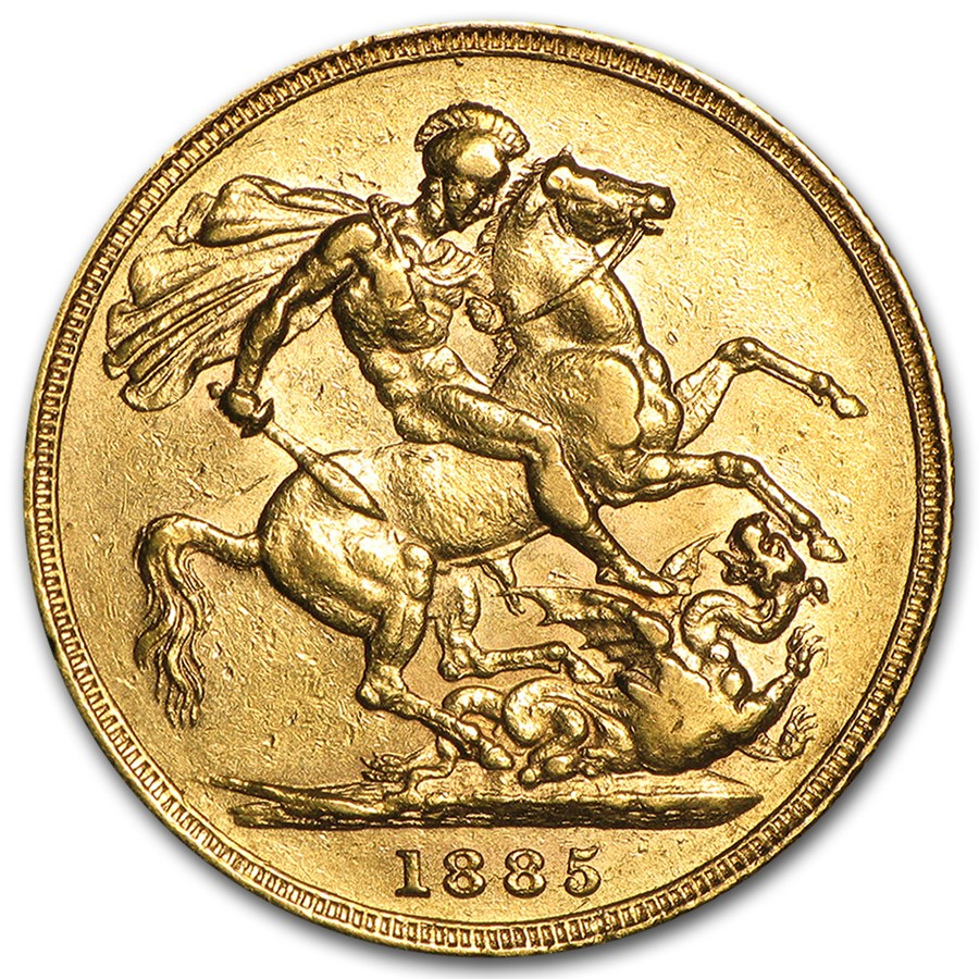 Great Britain Gold Sovereign Young Victoria (1871-1885) AU