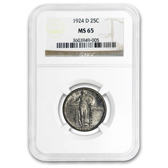 1924-D Standing Liberty Quarter MS-65 NGC