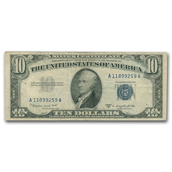 1953 thru 1953-B $10 Silver Certificates VF