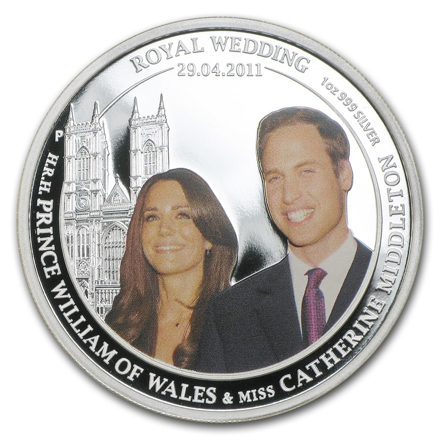 2011 Australia 1 oz Silver Royal Wedding Proof