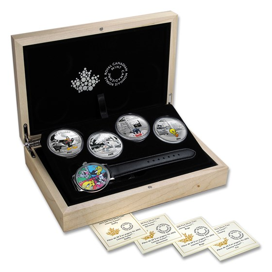 2015 Canada 4-Coin 1 oz Silver Set Looney Tunes (Wrist Watch)