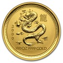 2000 Australia 1/10 oz Gold Lunar Dragon BU (Series I)