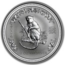 2004 Australia 1/2 oz Silver Year of the Monkey BU (Series I)