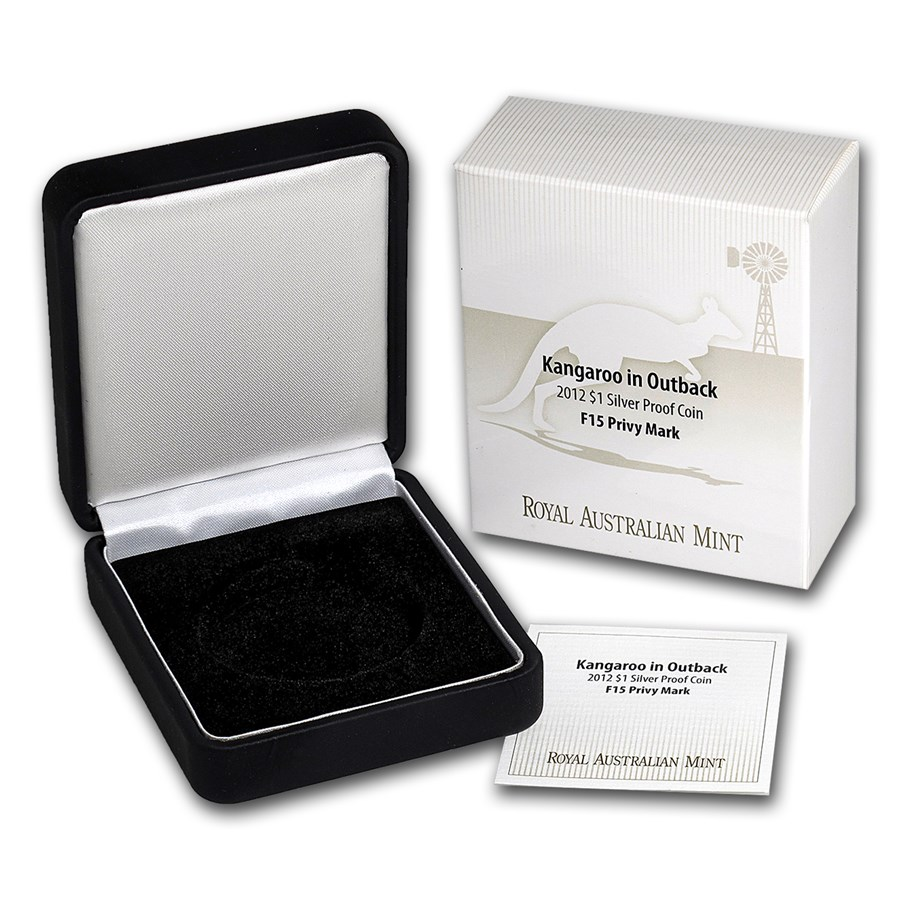 OGP Box & COA - 2012 RAM Silver Proof Kangaroo Coin F12 Privy