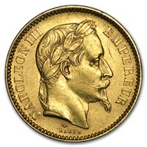 Gold 20 Francs Napoleon Iii Laureate