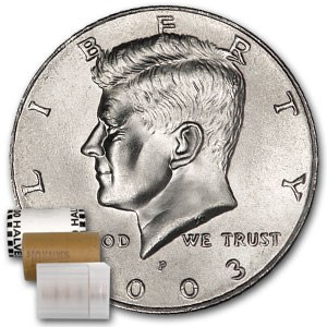 2003-P Kennedy Half Dollar 20-Coin Roll BU