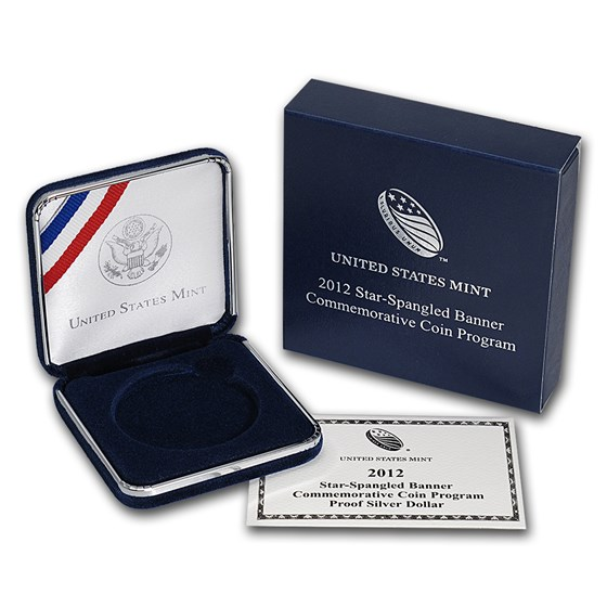 OGP Box & COA - 2012 Star Spangled Banner Silver Proof Coin