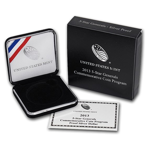 OGP Box & COA - 2013 U.S. Mint 5 Star General Silver Proof Coin