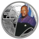 2015 Tuvalu 1 oz Silver Star Trek Colored Proof (Captain Sisko)