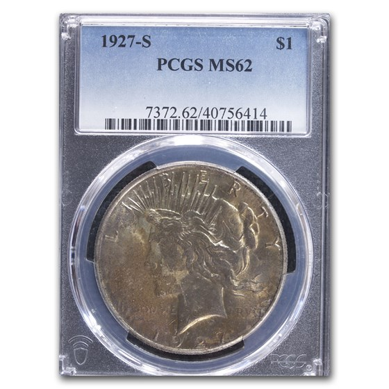 1927-S Peace Dollar MS-62 PCGS