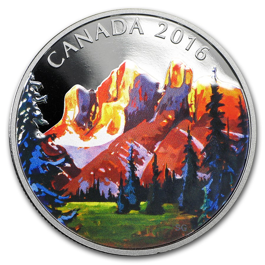 2016 Canada 1 oz Silver $20 Canadian Landscape The Rockies