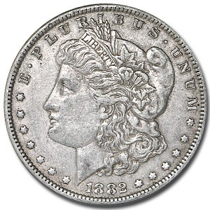 1882 Morgan Dollar XF