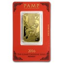 1 oz Gold Bar - PAMP Suisse Year of the Monkey (In Assay)