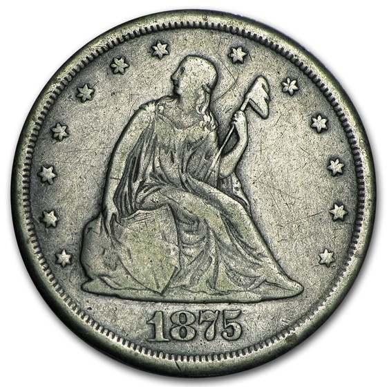 1875-CC Twenty Cent Piece Fine