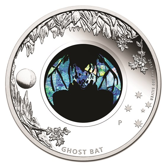 2015 Australia 1 oz Silver Opal Ghost Bat Proof