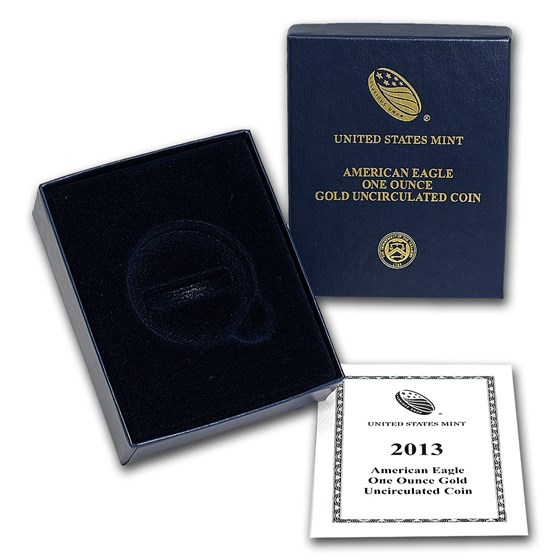 OGP Box & COA - 2013-W 1 oz Burnished Gold Eagle