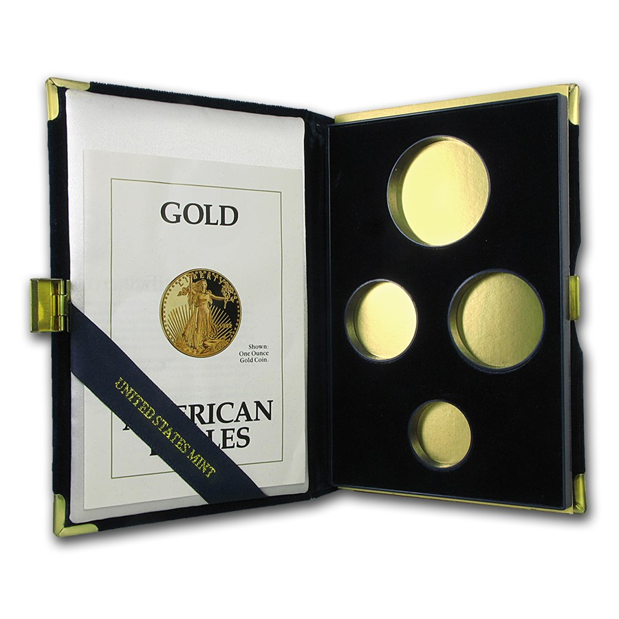 OGP Box & COA - 1992 4-Coin Proof Gold American Eagle Set