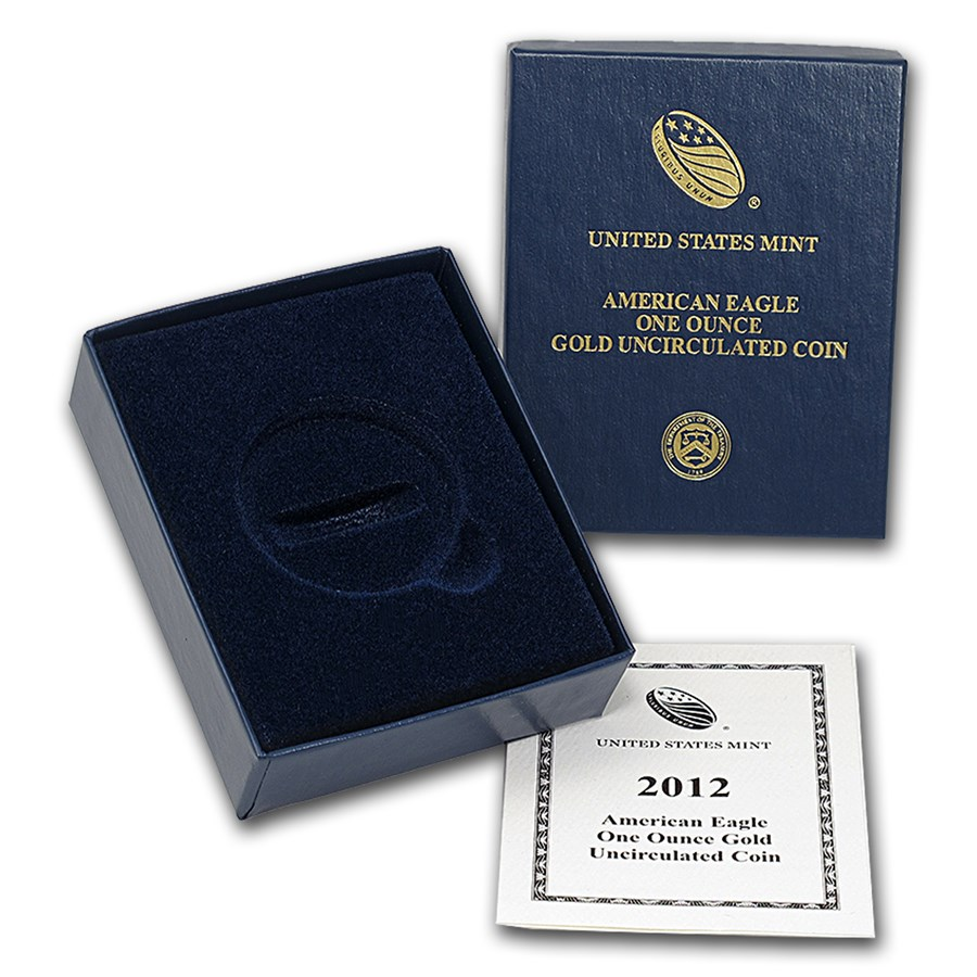 OGP Box & COA - 2012 (W) 1 oz Burnished Gold American Eagle