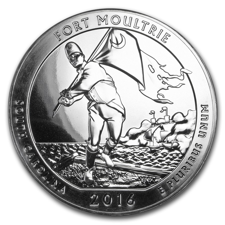 2016 5 oz Silver ATB Fort Moultrie National Monument, SC