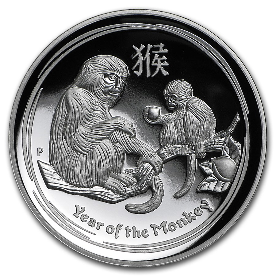 2016 Australia 1 oz Silver Lunar Monkey Proof (High Relief)