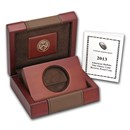 OGP Box & COA - 2013-W Reverse Proof 1 oz Gold Buffalo