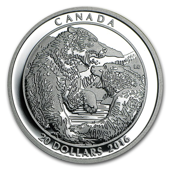 2016 Canada 1 oz Silver Grizzly Bear: The Battle
