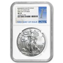 2015-W Burnished Silver Eagle MS-70 NGC (First Day of Issue)