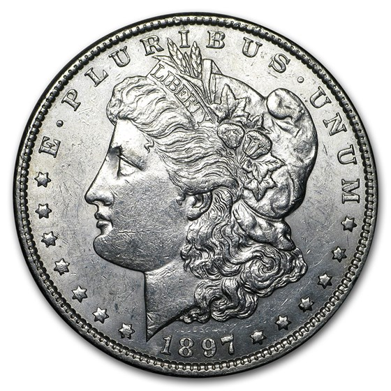 1897 Morgan Dollar AU
