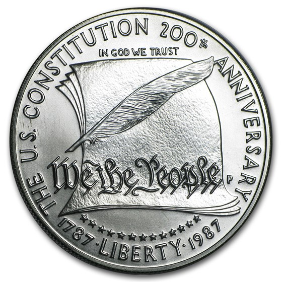 1987-P Constitution $1 Silver Commem BU (Capsule Only)
