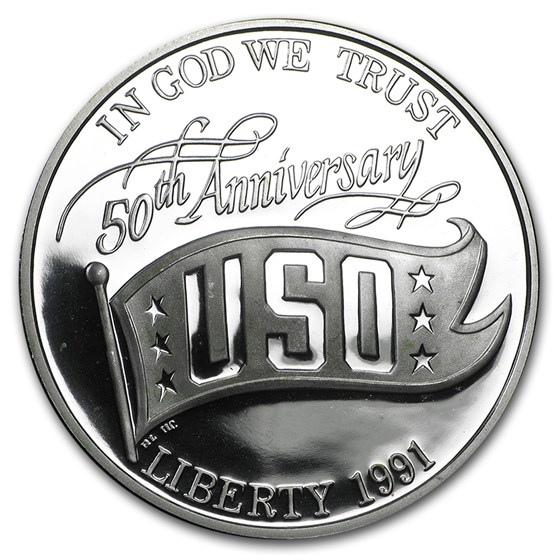 1991-S USO $1 Silver Commem Proof (Capsule Only)