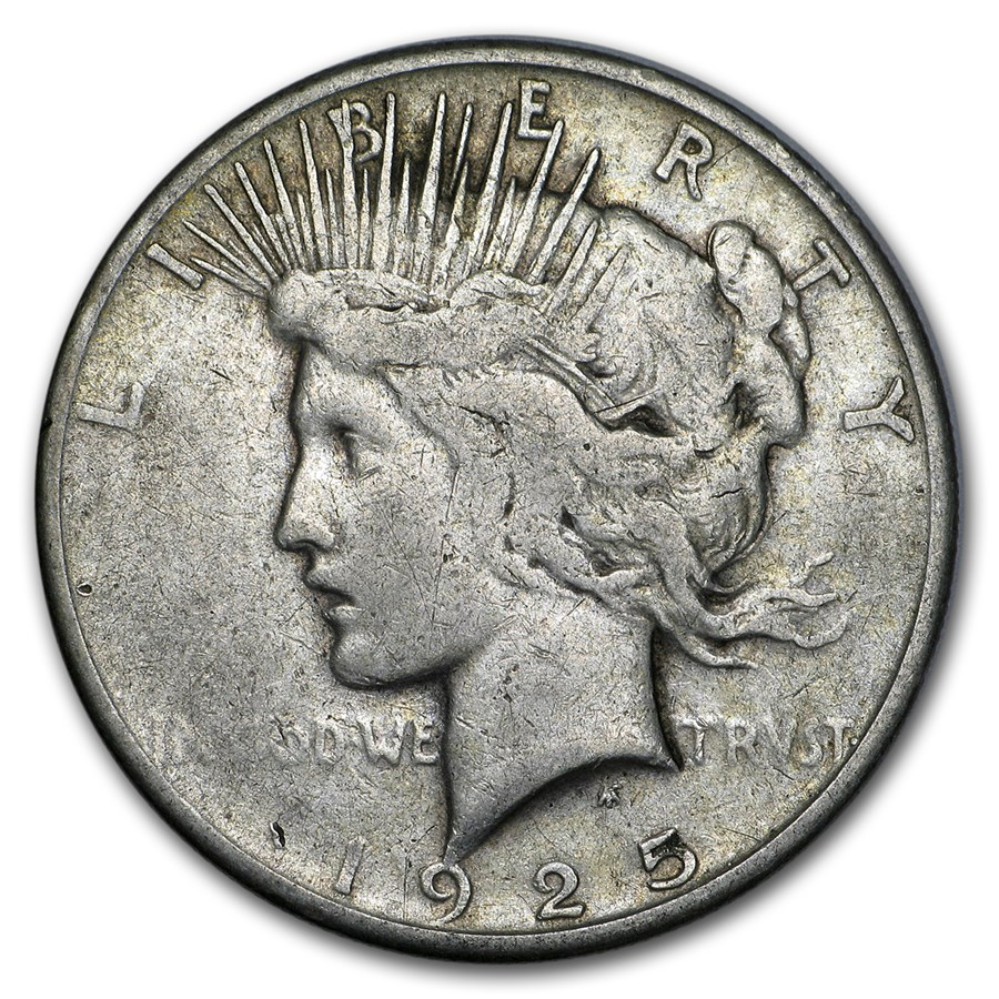 1925-S Peace Dollar VG/VF
