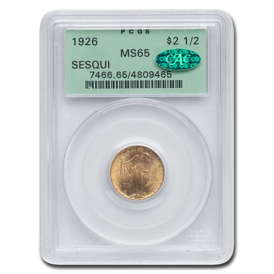 1926 Gold $2.50 America Sesquicentennial MS-65 PCGS CAC