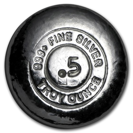 1/2 oz Hand Poured Silver Round - YPS